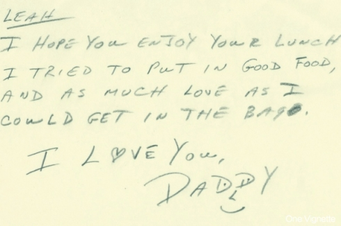 5.18.14. Six Years. Dad note
